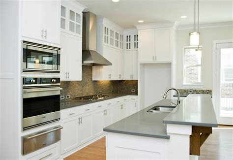 white kitchen cabinets with white quartz countertops how to get the concrete look in your kitchen without the 2216