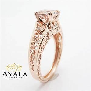 Rose Gold Vintage Engagement Rings Wedding Promise