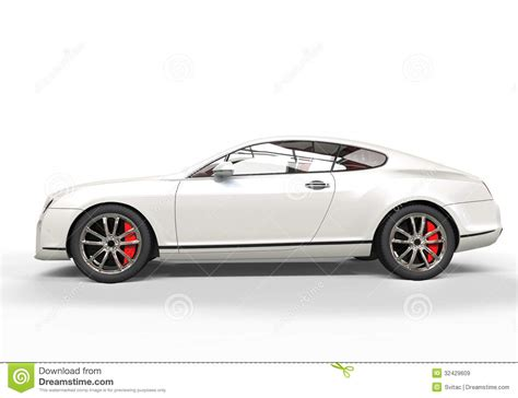 White Luxury Car Royalty Free Stock Images
