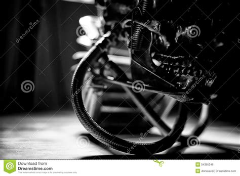 Skull Of A Human Size Robot Stock Image