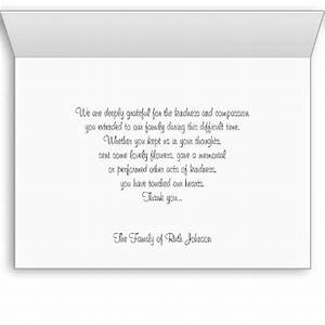 thank you card wording for funeral happyeasterfromcom With thank you letter for funeral