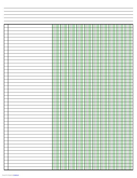 columnar paper  ten columns  ledger sized paper