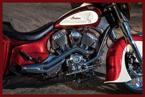 Custom Indian Bagger Motorcycle Side Covers