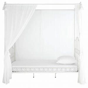 Bett 90 X 190 : kinder himmelbett aus metall 90 x 190 cm elfenbein ~ Lateststills.com Haus und Dekorationen