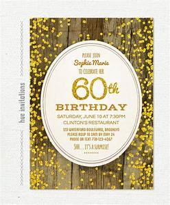 60th birthday invitation templates 24 free psd vector With 60th birthday invites free template