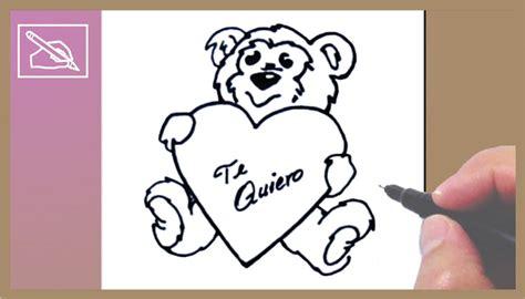 c 243 mo dibujar un osito con coraz 243 n drawing a teddy with dibujando