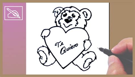 c 243 mo dibujar un osito con coraz 243 n drawing a teddy