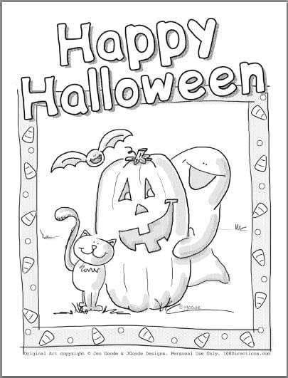 cute halloween coloring pages  directions  images
