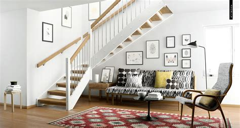 living room small and wooden staircases brick wall design ideas simple scandinavian style interior design ideas to