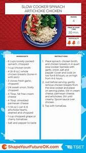 Slow Cooker Spinach Artichoke Chicken