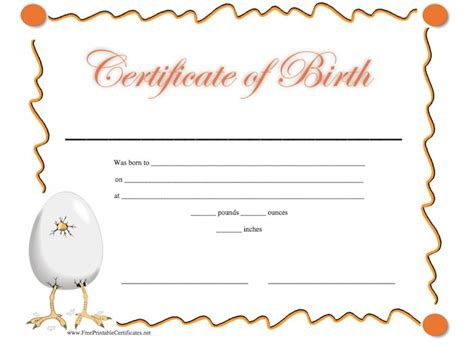 birth certificate templates word