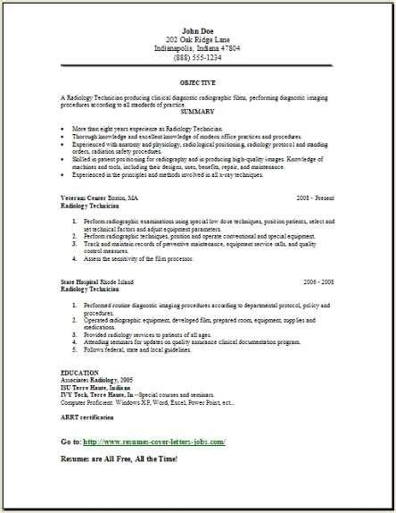 Radiology Tech Resumes Las Vegas by 17 Best Ideas About Resume Format Exles On