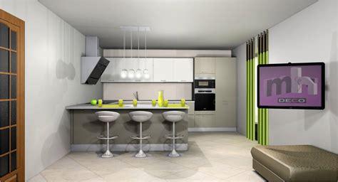 aménagement cuisine ouverte sur salle à manger idee deco cuisine ouverte sur salon cuisine en image