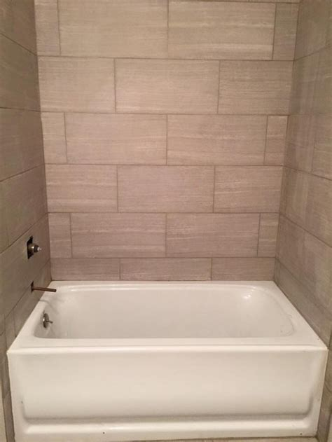 12x24 tile tub surround tile around tub does not look right