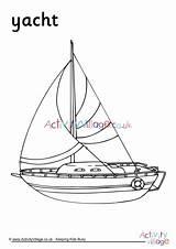 Colouring Yacht Log Ship Sailing Transport Activity Village Explore Activityvillage sketch template