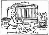 Coloring Parthenon Gate Golden Pages Bridge Sightseeing Drawing Printable Athens Temple Paul Ephesus Artemis San Francisco Template Supercoloring Coloringpages101 Colorings sketch template