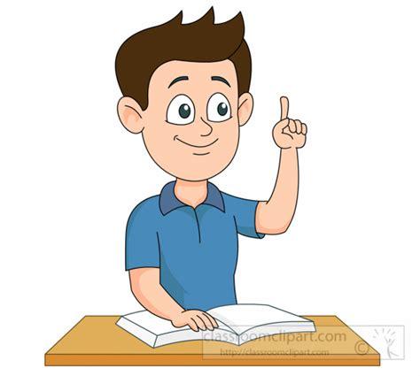 Raise Clipart School Clipart Student Raising Finger In Classroom