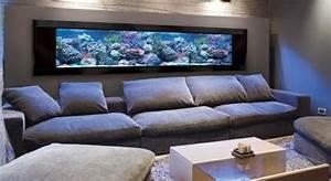 Meuble De Salon Pas Cher : l aquarium mural en 41 images inspirantes ~ Teatrodelosmanantiales.com Idées de Décoration