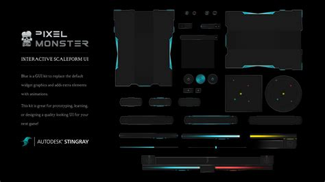 interactive scaleform ui sci fi blue graphics creative