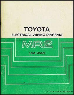1986 toyota mr2 wiring diagram manual original