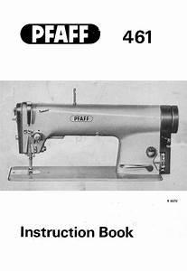 Pfaff 461 Instruction Manual