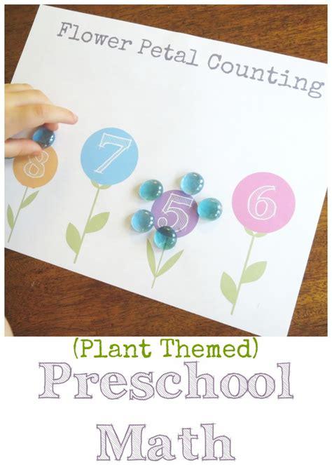 plant theme preschool math flower petal counting free 777 | Plant themed preschool math 731x1024