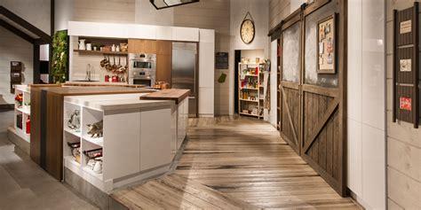 cuisine b studio cuisine bois noyer acrylique stratifie