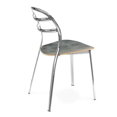 chaise en métal cs1105 giga chaise calligaris en métal assise en laminé