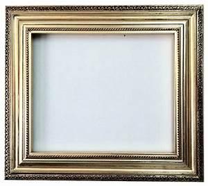 Decorative Wall Mirror Frame in bright gold leaf bronze ...