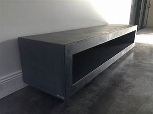 Meuble Tv Beton : table beton par stuc co meubles tv b ton cir ~ Teatrodelosmanantiales.com Idées de Décoration