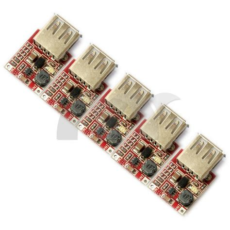 5 pcs step up dc dc boost converter 3v to 5v 1a usb charger mini mobile