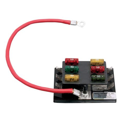 Motorcycle Electrical Fuse Box by Rivco 6 Circuit Fuse Block Revzilla