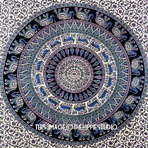 Indian elephant mandala tapestry wall hanging hippie
