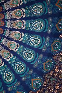 Blue Mandalas Tapestry Bedroom Wall Hangings The Yoga