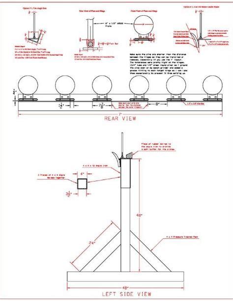 steel shooting plate rack drawing shooting targets diy