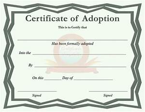 Adoption certificate template free download speedy for Certificate of adoption template