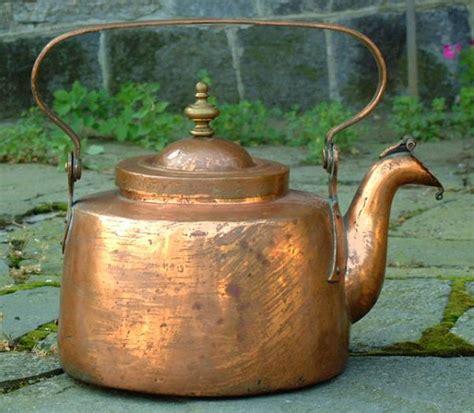 price  item   antique copper tea kettle circa