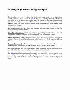 where you get funeral eulogy examples With eulogy template for a friend