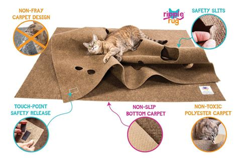 ripple rug interactive cat activity mat  green head