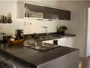 plan de travail cuisine en beton cire gris anthracite With superior sol gris clair quelle couleur pour les murs 13 quelle couleur avec du gris anthracite dans sa deco