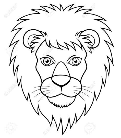 White Lion Clipart Simple Cartoon Pencil And In Color