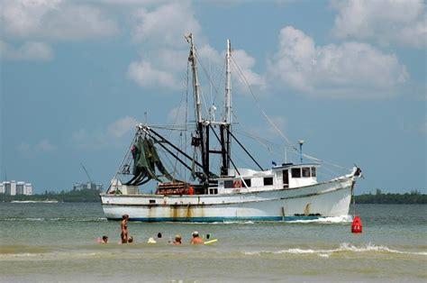 shrimp boat fishing florida myers ft commercial beach domain publicdomainpictures