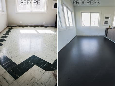 Best Flooring For Kitchen With Dogs by Painting The Living Room Floor Tiles Part I