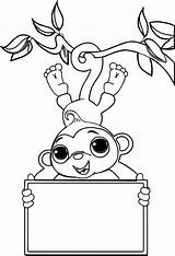 Monkey Coloring Pages Sock Valentine Monkeys Zoo Printable Hop Cute Baby Socks Drawing Colouring Print Sheet Nativity Getcolorings Zookeeper Simple sketch template