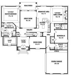 4 bedroom single house plans 654026 two 4 bedroom 3 bath style house plan house plans floor plans home