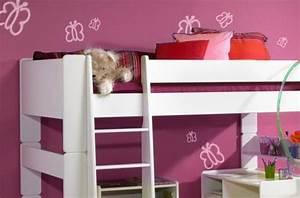 lit mezzanine en bois blanc pour enfants et ado With déco chambre bébé pas cher avec envoyer des fleurs pas cher livraison gratuite