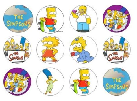 simpsons edible cupcake toppers x 12 for sale in dalkey dublin from flour power