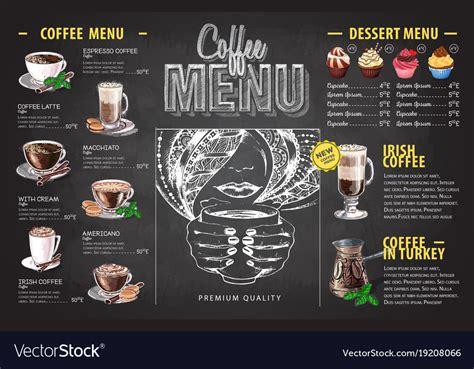 7,000+ vectors, stock photos & psd files. Vintage chalk drawing coffee menu design Vector Image