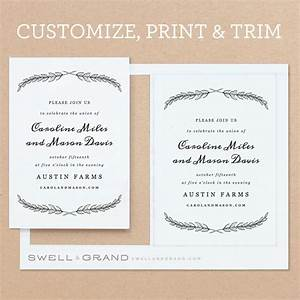 Delighted invitation templates for mac contemporary for Wedding invitation template for pages mac