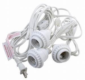 Triple socket pendant light cord kit for lanterns ft